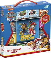 Paw Patrol stickers  - doos met 12 rollen, meer dan 1000 stickers, inclusief plak- en tekenboekje - Totum stickerset