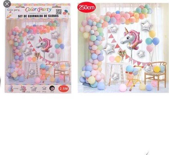 Luxe/Unicorn/Ballonenboog/Multicolor/2,5/Meter/Verjaardag/Babyshower/Feest Decoratie/Kinderfeest/Doe het zelf ballonboog