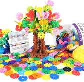 Afbeelding van Allerion® 3D Sneeuwvlokken Bouw speelgoed – Bouwpakketten kinderen – Constructiespeelgoed – Bouw speelgoed jongens – Sneeuwvlokjes – STEM - 520 stuks speelgoed