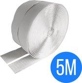 Klittenband zelfklevend wit 5 meter - klittenband - zelfklevend klittenband - klittenband rol - klittenband zelfklevend wit - ultra sterk