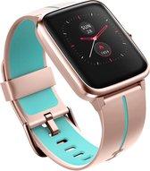 SmartWatch-Trends S205L - Smartwatch Vrouwen - Dames - Roze - Baby Blauw