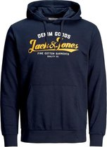 Jack & Jones Logo Sweat Hood 2 Col Hoodie Heren