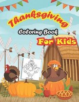 Thanksgiving Coloring Book For Kids: