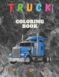 Truck Coloring Book For Kids Ages 4-8