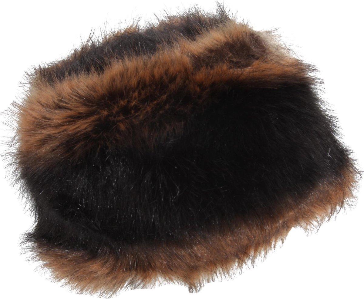 Vrouwen/dames Faux Fur Winter Hat (Zwart/Bruin)