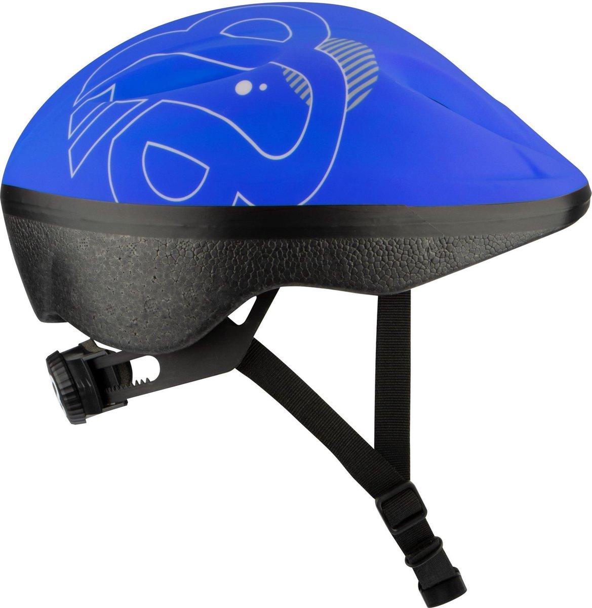 Nijdam Junior Helm - Sky Base - Blauw/Zilvergrijs