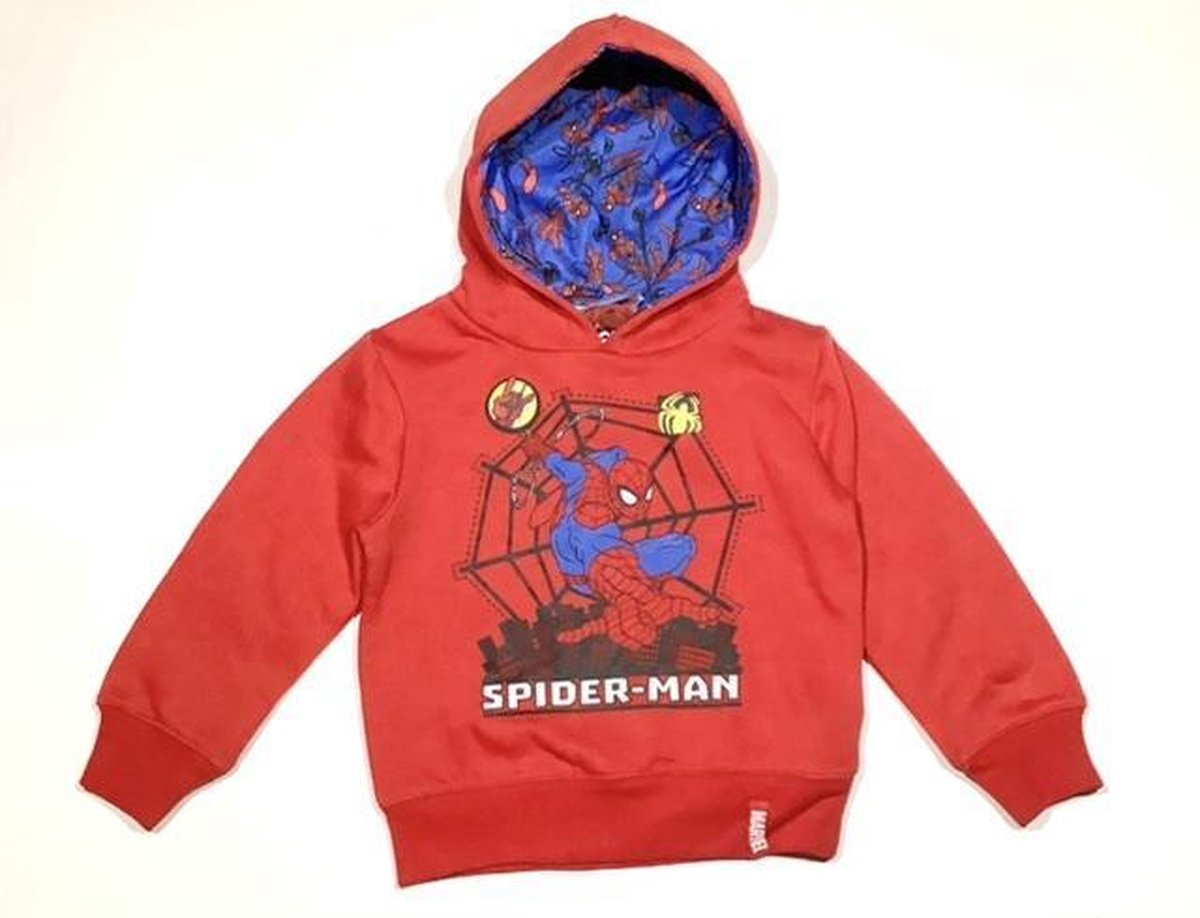 Marvel Spiderman Hoodie - rood - maat 98 (3 jaar)