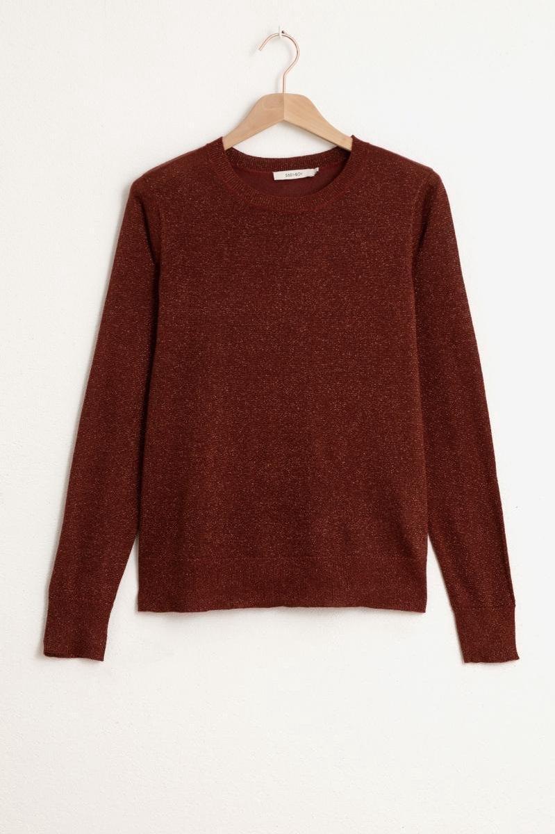 Sissy-Boy - Bronzen lurex pullover