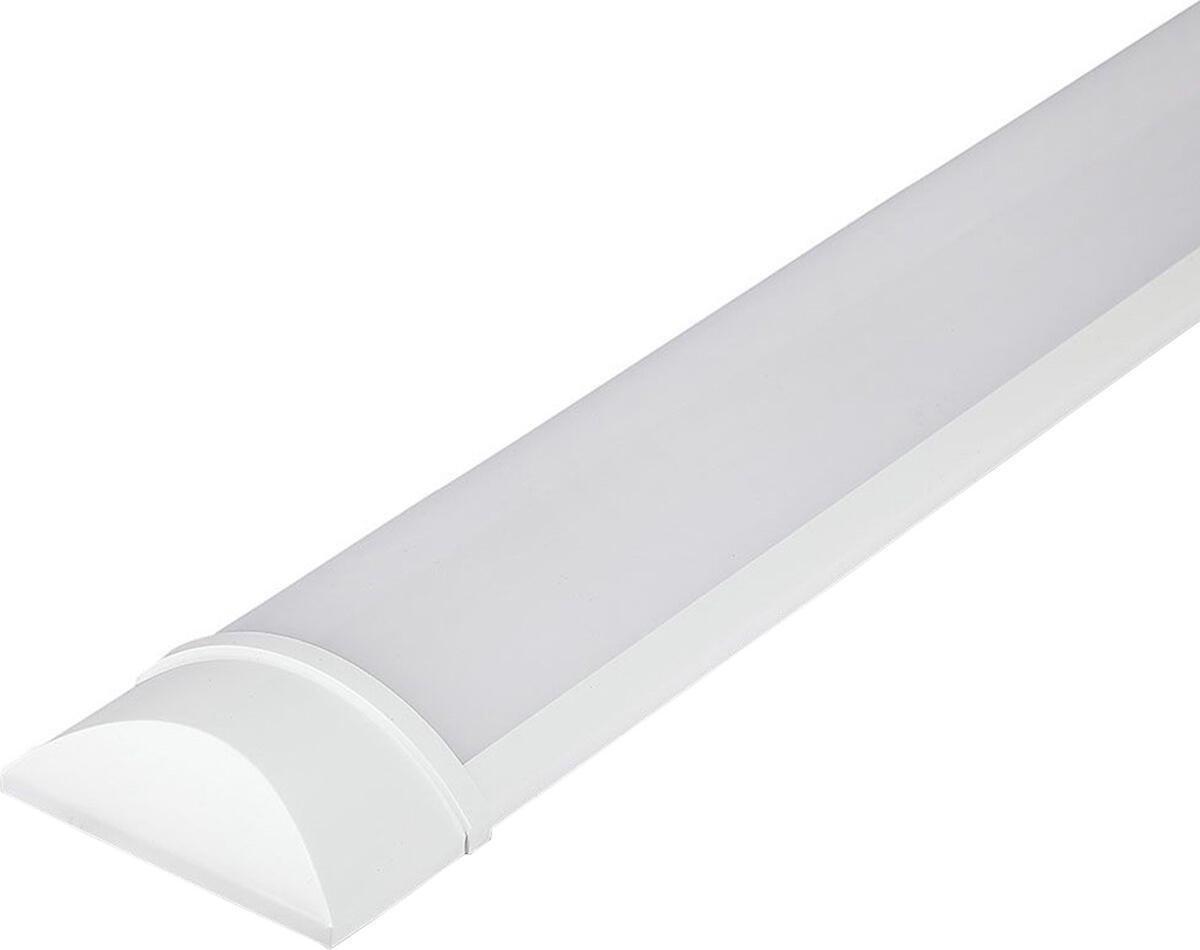 LED Balk - Viron Kilas - 30W High Lumen - Natuurlijk Wit 4000K - Mat Wit - Kunststof - 120cm