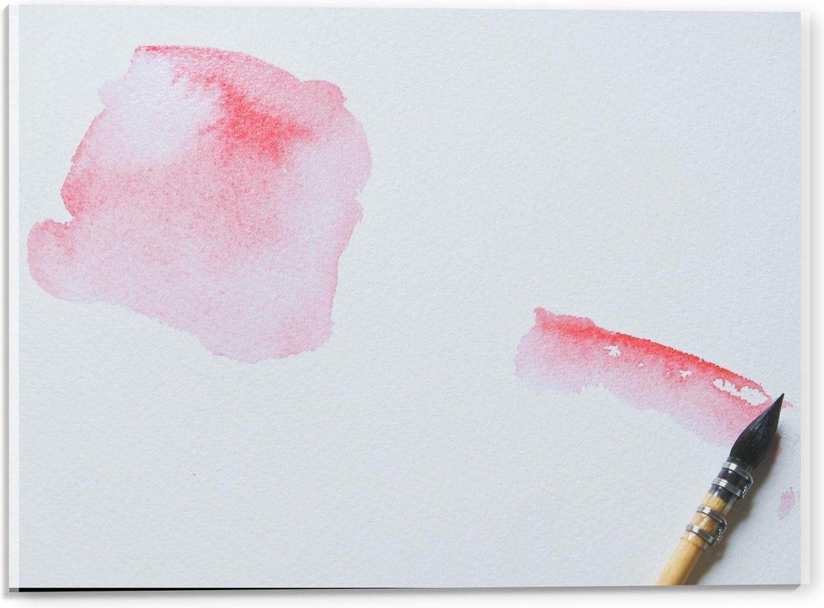 Plexiglas - Roze Inktvlek  - 40x30cm Foto op Plexiglas (Wanddecoratie op Plexiglas)