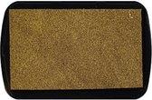 Stpad16  stempelkussen echt goud - pigment inkt waterbasis Nellie Snellen - gold glitter