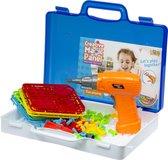 Puzzel 151 stuks + Speelgoed Schroefboormachine - Doe-Het-Zelf voor Kinderen - Vanaf 3 jaar