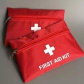 Handig EHBO tasje voor onderweg - First Aid Kit - Rood & Wit