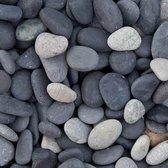 Beach pebbles zwart 16/25mm zakgoed 20kg