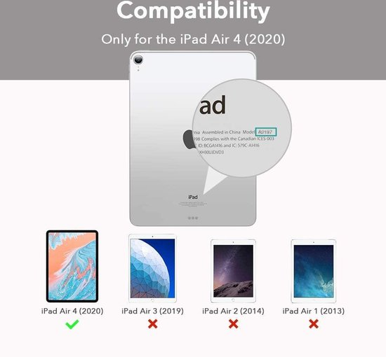ESR Apple iPad Air 4 2020 Yippee Color Case Zwart