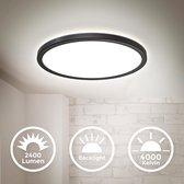 B.K.Licht - LED Plafondlamp - 28,3cm - Zwart