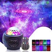 StarryLight - Sterren Projector - Nachtlampje - Nachtlampje kinderen - Star Projector - Galaxy projector - Sterrenhemel Projector - Discolamp - Star light projector - Sterrenlamp - Sterren hemel - Nachtlamp - Muziek box bluetooth - Zwart