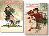 20 Luxe Kerstkaarten in doos - Vintage A - 2 x 10 kaarten