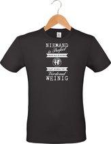 Mijncadeautje - T-shirt unisex - zwart - Niemand is perfect - Alfa Romeo