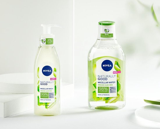 NIVEA Naturally Good Micellair Washgel met biologische aloë vera - 140ml