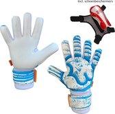 RWLK - Future Blue - Keepershandschoenen - met scheenbeschermers - maat 6 - voetbal keepershandschoenen - keepershandschoen - Goalkeeper handschoen - keepershandschoenen kinderen - kids