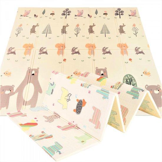 Product: Mamabrum Speelkleed - Paarden en Beren - Dubbelzijdige XXL - Opvouwbaar 1 cm dik - Speelmat - Speeltapijt - Baby - Foam, van het merk Mamabrum