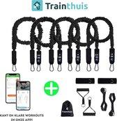 Traintuis - resistance band - weerstandsband - 5 resistance band set - fitness elastiek - elastiek fitness