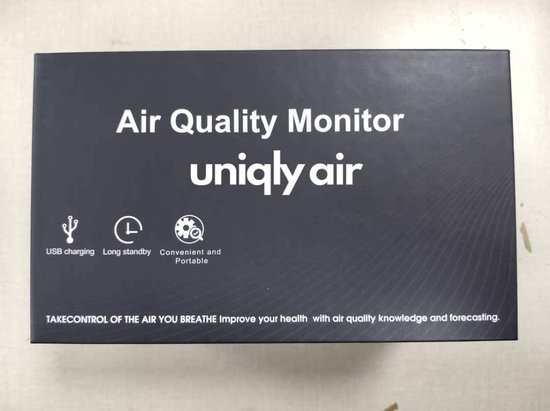 ® Premium Co2 meter binnen + NDIR sensor | Bureaumodel  | Temperatuur | Luchtvochtigheidsmeter | co2 monitor | Co2 meter draagbaar | Luchtkwailiteitsmeter + stekker en extra kabel