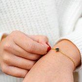 Yolora Lovables dames armband met Swarovski kristal - 18K geel goud vergulde armband - YOL-B005-YG-JE