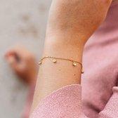 Yolora Lovables dames armband met Swarovski kristallen - 18K geel goud vergulde armband - YOL-B003-YG-CC