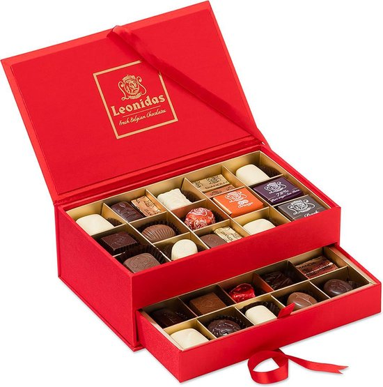 Chocolade Cadeau | Leonidas Juwelendoos | Met 30 Leonidas Bonbons