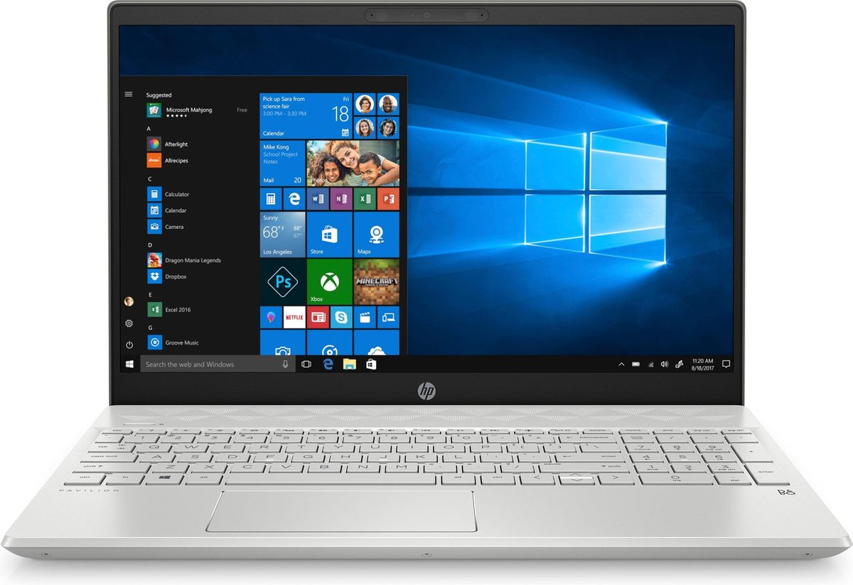"HP Pavilion 15-cw1507nd DDR4-SDRAM Notebook 39,6 cm (15.6"") 1920 x 1080 Pixels AMD Ryzen 5 8 GB 512 GB SSD Wi-Fi 5 (802.11ac) Windows 10 Home Zilver"