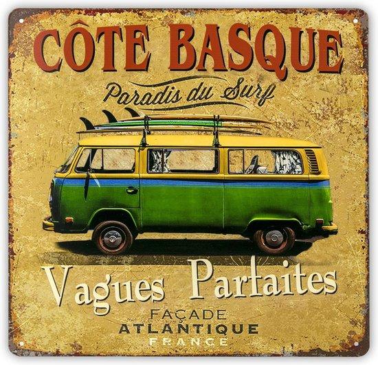 Bol Com Haes Deco Retro Metalen Muurdecoratie Vintage Hippy Bus Summer Western Deco
