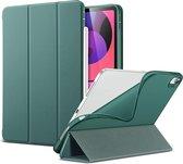 Apple iPad Air 2020 - iPad Air 4 10.9 inch (2020) Hoes Groen - Tri Fold Tablet Case - Smart Cover