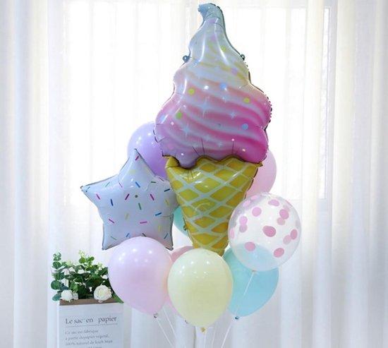 babyshower - verjaardag - sweet 16 -  ijshoorn ballonnenset