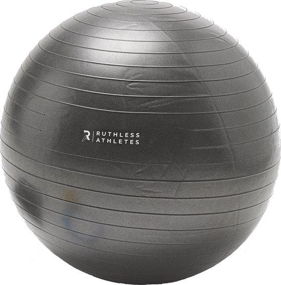 Stability Ball - Ruthless Athletes - Fitness bal - 65cm Fitnessbal - Inclusief Instructie & Oefeningen Video - Yoga Bal - Gymbal - Swiss Ball - Balans Trainen - Bosu Bal - Thuis Sporten - Sportartikelen