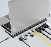 USB-C multi HUB 11-in-1 (HDMI / VGA / USB3.0 / LAN / USB-C charge / SD&Micro SD / audio )