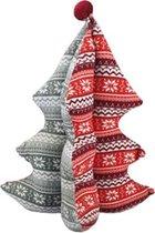 Deurstopper Kerstboom - Grijs/Rood - 40 cm