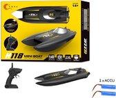 Rc boot H118 - oplaadbaar - 2.4ghz zender - 10km/h  (bereik tot 50 meter) 1:47 - race boot + Extra accu
