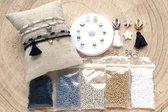 Zelf sieraden maken Kralen set DIY - Kinderen en volwassenen pakket - 2mm kraal - Zwart, goud, zilver, wit