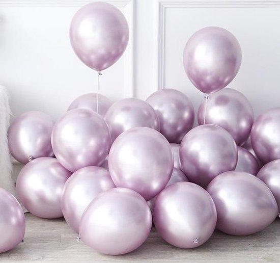 Chrome Ballonnen Lila / Licht paars / Mauve - DH collection | Effen | 9 stuks | Baby Shower - Verjaardag - Geboorte - Wedding - Birthday - Party - Feest - Huwelijk