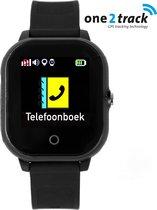 One2track Connect Go - GPS tracker telefoonhorloge kinderen - Zwart