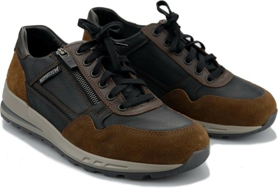 Mephisto BRADLEY heren sneakers - zwart combi - maat 47