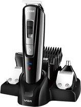 VGR Bodygroomer met snel laad functie - 6 in 1 - Multifunctioneel - Body groomer - Design trimmer - Neus trimmer - Precisie trimmer - Shaver - Waterdicht - Turbo functie - Inclusief accessoires, oplader & reistasje