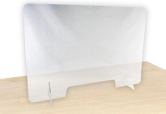 Glasscherm Acryl, 100x70x0,3cm Baliescherm   Scheidingswand van glas   A4 opening  Bescherming door Spatscherm  Corona Veiligheidsscherm