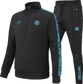 Malelions Sport Quarterzip Tracksuit - Black/Blue - L