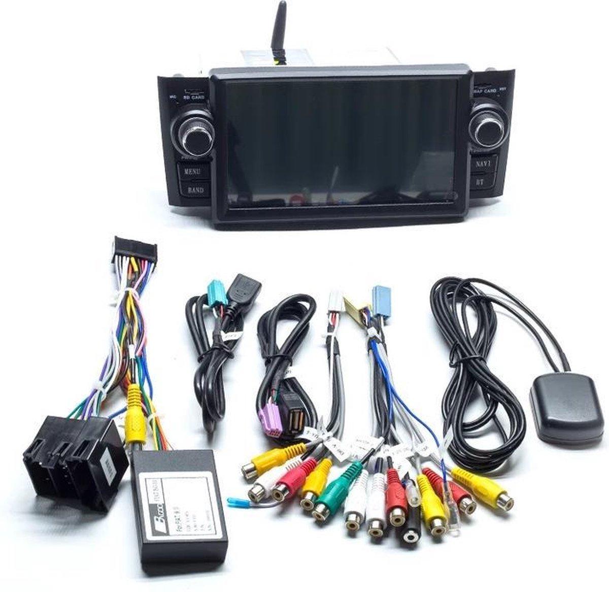 Fiat Grande Punto Linea met ingebwoude CarPlay 2007-2012 Android 10 navigatie en multimediasysteem bluetooth usb wifi