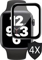 Apple Watch SE 40 mm Screenprotector - iWatch SE 40mm Screenprotector - Full Screen Protector Glas - 4 Stuks
