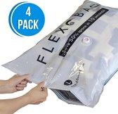 Flextail Gear vacuümzakken Flexbag L Vacuüm opbergzakken - Vacuüm zakken kleding 80x60 cm - 4 stuks