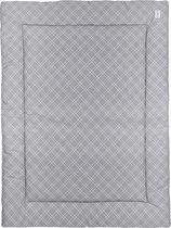 Meyco Double diamond boxkleed - 80x100cm - grijs